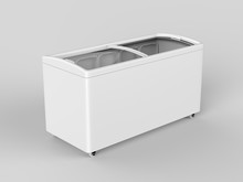 Blank Ice Cream Freezer Isolat...