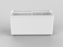 Blank Ice Cream Freezer Isolat...