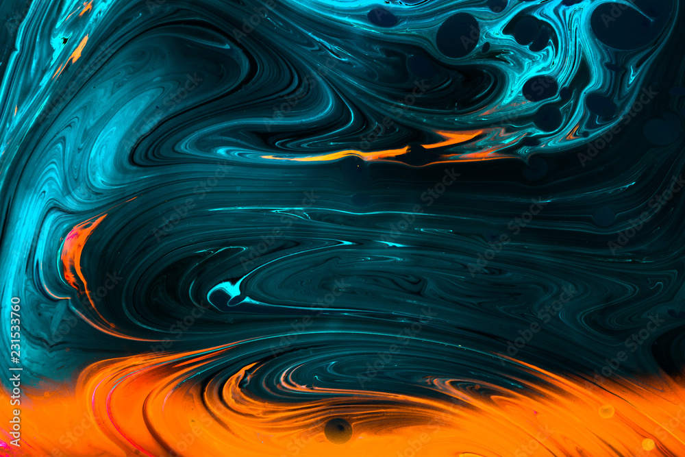 Fototapeta Abstract grunge art background texture with colorful paint splashes
