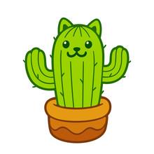 Cute Cat Cactus
