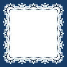 Square Lace Doily With Cutout ...