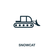 Snowcat Icon. Premium Style Design From Winter Sports Icon Collection. UI And UX. Pixel Perfect Snowcat Icon For Web Design, Apps, Software, Print Usage.