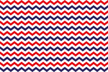 Background Of Red And Blue Zig Zag Stripes On White