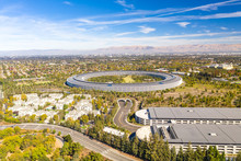 Aerial View Over Cupertino In ...
