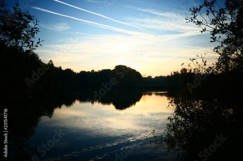 Fototapeten Natur Natuur vijver meer