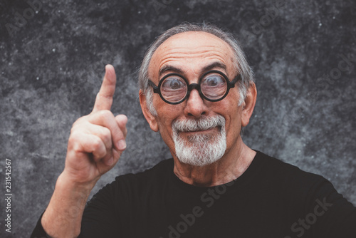 Stampa su Tela Grandfather portraits on colored backgrounds