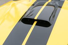 Close Up Of Yellow Vintage Car Air Vents