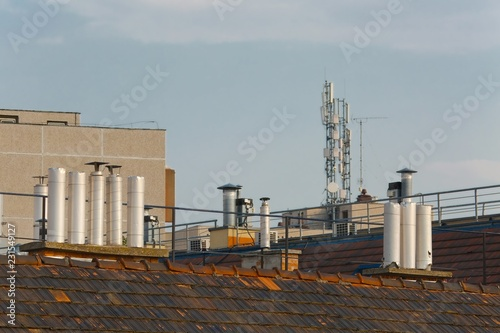 Spoed Foto op Canvas Historisch geb. Roofs and chimneys