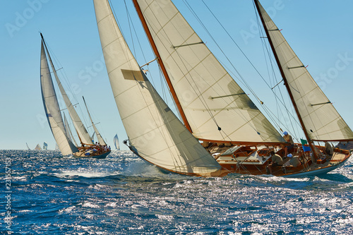 Sailing yacht race. Yachting. Sailing. Regatta. Classic sail yachts  © Alvov