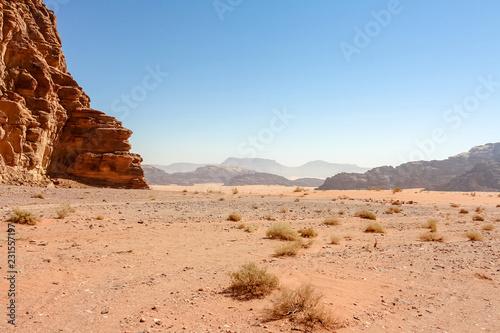 Photo  Desert in Wadi Rum - Jordan