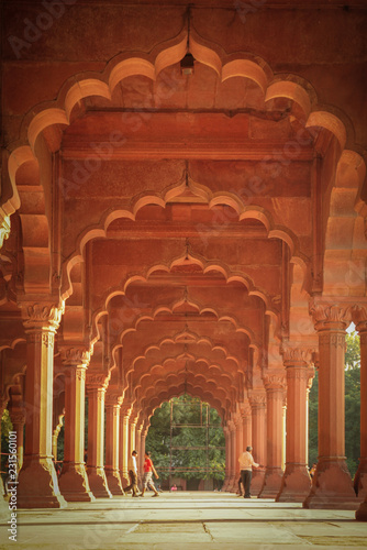 Autocollant pour porte Delhi Arkaden im Roten Fort, Neu Delhi, Indien
