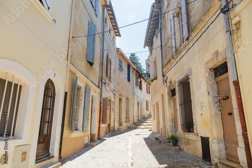 narrow street in old town of Arles France