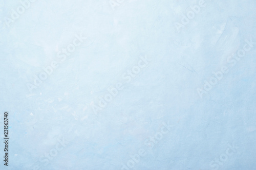Fotografie, Obraz  Light Blue Abstract Wall Background, Cement Concrete Stucco Texture