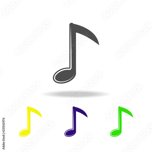 musical note multicolored icons  Element of music icon  Signs and