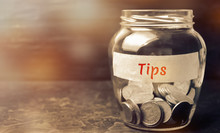 Glass Jar With Coins And The I...