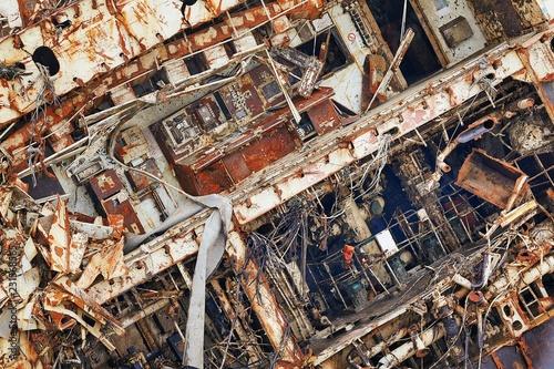 Deurstickers Schipbreuk Cargo ship wreck