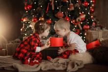 Family On Christmas Eve At Fir...