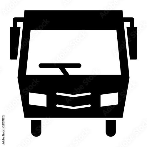 Fotografie, Obraz  Minibus solid icon