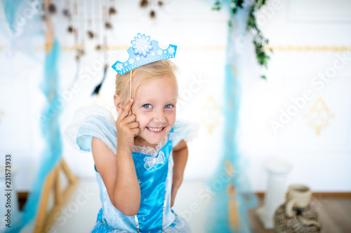 Fotografie, Obraz Snow Maiden princess girl