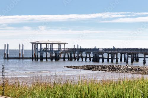 Pier on Charleston harbor