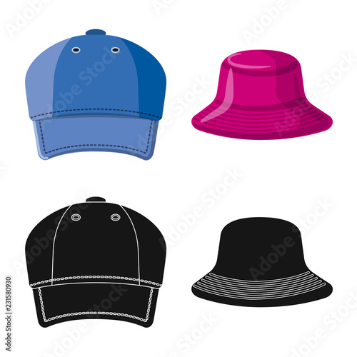 Photo  Vector design of headgear and cap sign