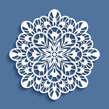 Round Lace Doily, Cutout Paper...