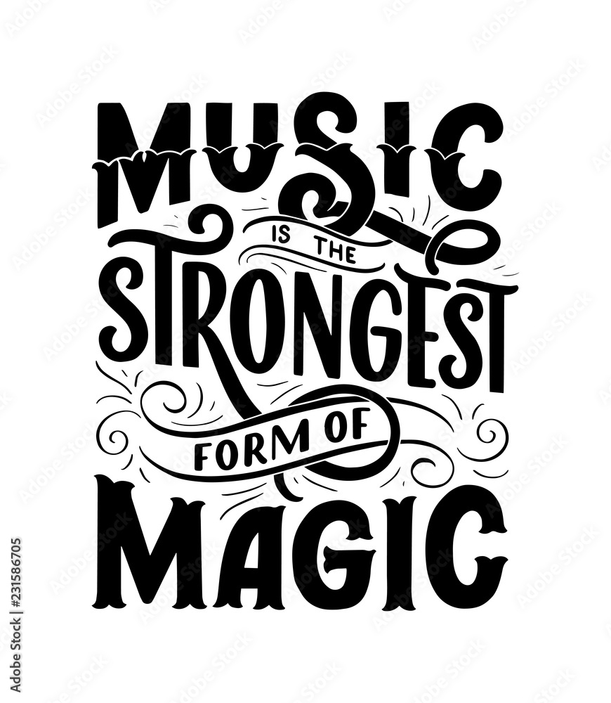 Photo  Inspirational quote about music