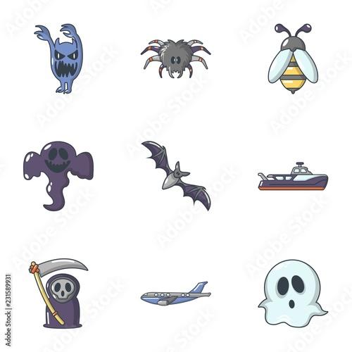 Fotografía  Scare icons set