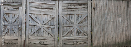 old faded wooden wall and gates