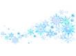 雪の結晶の背景