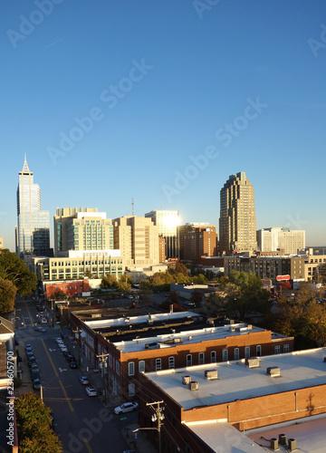 Deurstickers Amerikaanse Plekken Downtown Raleigh NC skyline