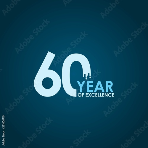Fotografia  60 Year of Excellence Vector Template Design Illustration