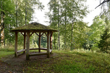 Old Wooden Summerhouse In Aban...