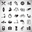 Sport and healthy life set on white background icons