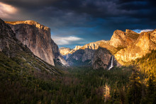 Evening Light Over Tunnel View...