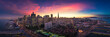 Aerial Panoramic View of San Francisco Skyline at Sunset