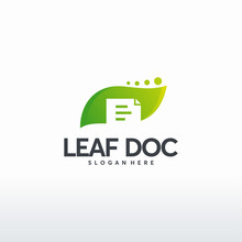 Leaf Document Logo Designs Con...