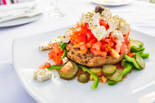 Dakos, Cretan Salad, Greece Cuisine