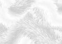 Grey White Abstract Fluffy Fur...