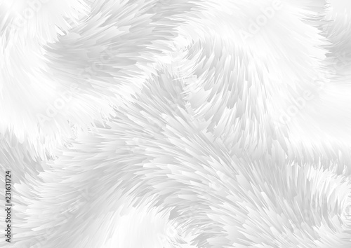 Grey white abstract fluffy fur background Canvas Print