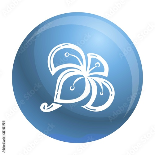 Exotic plumeria icon. Simple illustration of exotic plumeria vector icon for web design isolated on white background