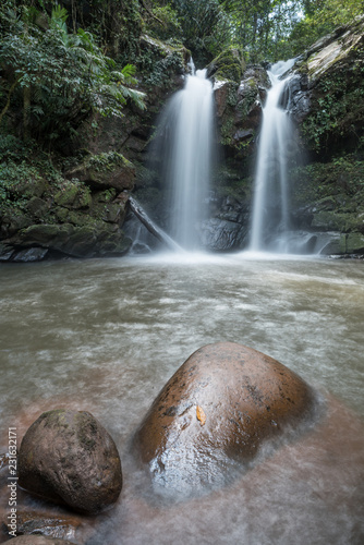 Deurstickers Watervallen Beautiful waterfall in rainforest
