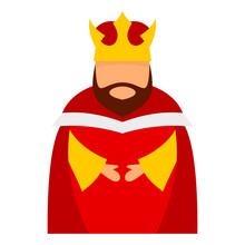 Bethlehem King Icon. Flat Illu...