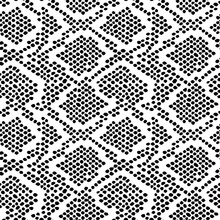 Snake Skin Pattern Texture Repeating Seamless Monochrome Black White. Vector. Texture Snake. Fashionable Print. Fashion And Stylish Background.