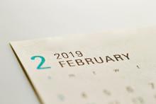 2019 February Calendar Background
