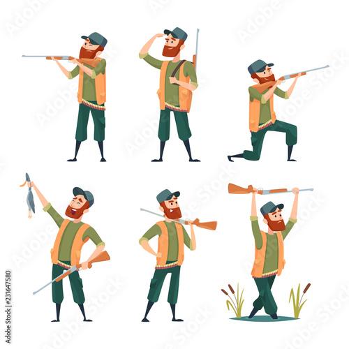 Fotografía Cartoon hunters
