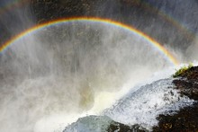 Double Rainbow Over Victoria Falls, Livingstone, Zambia, Africa