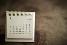 2019 March Calendar Background