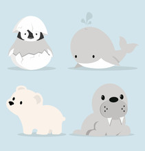 Cute Artic Animals Collection ...