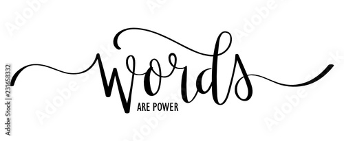 Poster Positive Typography WORDS ARE POWER brush calligraphy banner